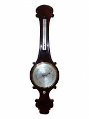 Regency Mahogany Mercury Wheel Barometer