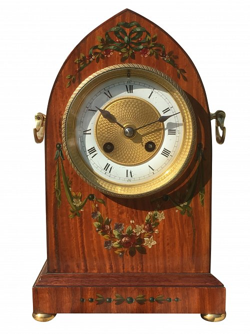 French lancet mantle clock