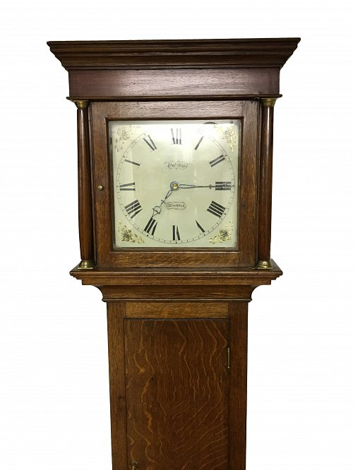 30 hour oak longcase clock Nye Worthing