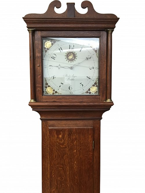 30 hour oak longcase clock Battle