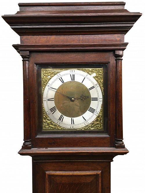 30 hour oak longcase clock Horsham